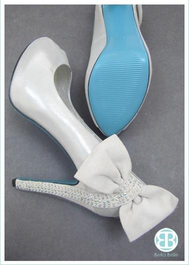 Blue Sole Shoes by Bella Belle www.bellabelleshoes.com/bleu