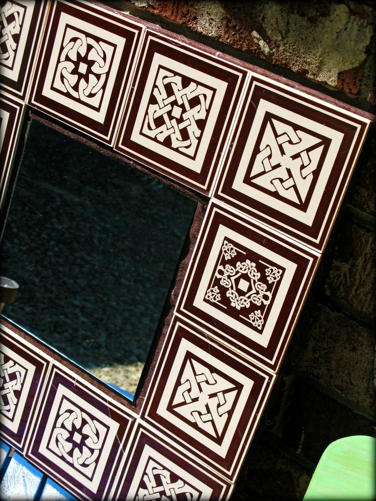 Dollar store tiled mirror nifty crafts pinterest for Dollar store mirror craft