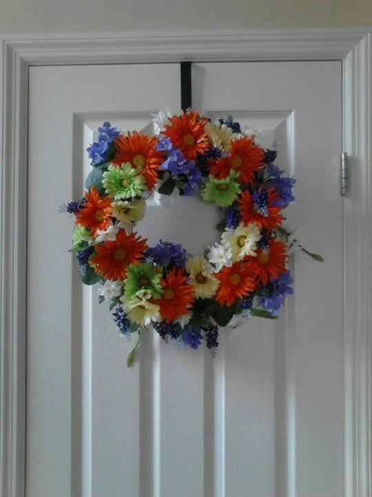 New summer wreath for front door summer wreaths pinterest