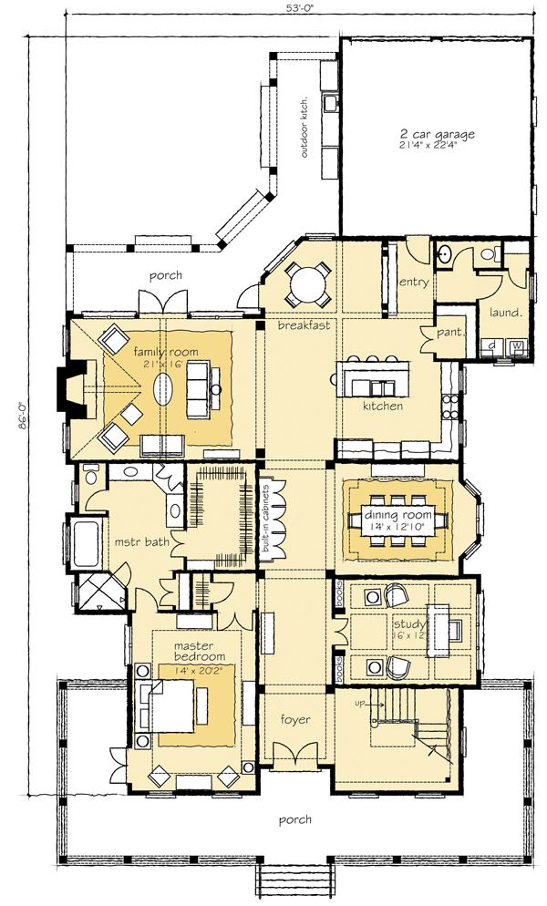Pin by suzanne maez on woodland park home pinterest for Rear garage floor plans
