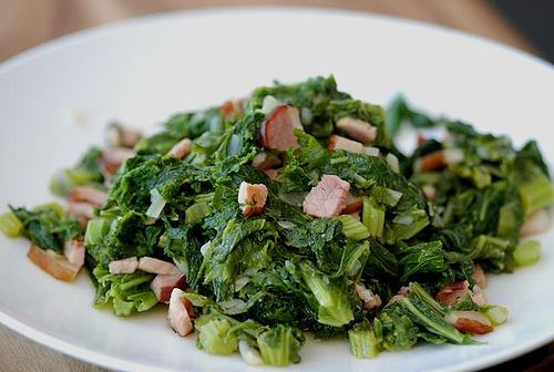 mustard greens with bacon | Favorite Recipes | Pinterest