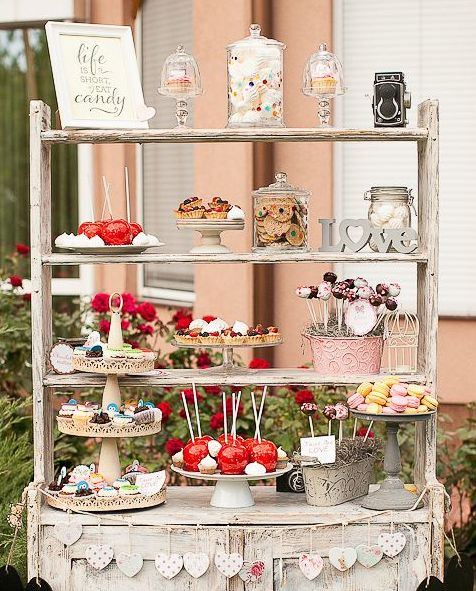 Pin by brides book on wedding planning ideas pinterest for Candy bar for weddings receptions