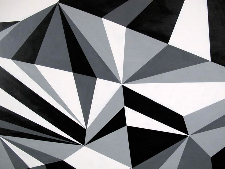 Monochromatic geometric art for Geometric paint designs