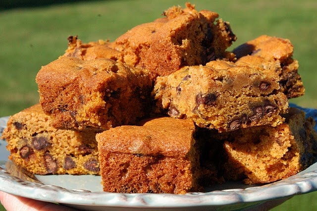 Pumpkin Chocolate Chip Spice Bars | Brownies and Bars | Pinterest