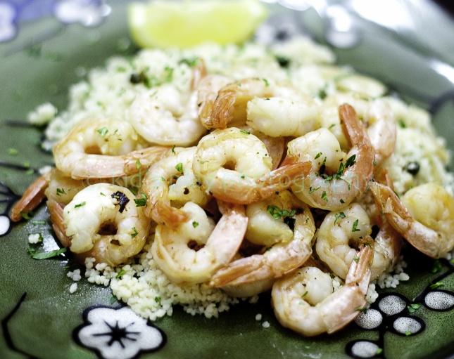 Shrimp Scampi With Couscous Recipe — Dishmaps