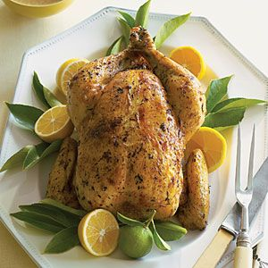 Roast Chicken with Meyer Lemon Shallot Sauce | MyRecipes.com