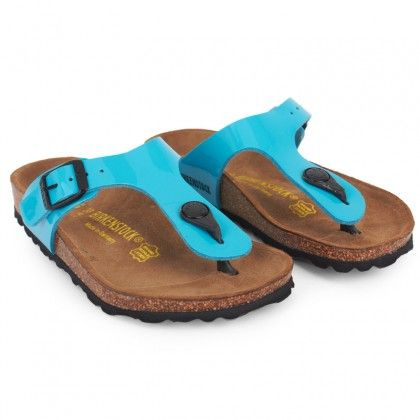 Turquoise Gizeh sandals