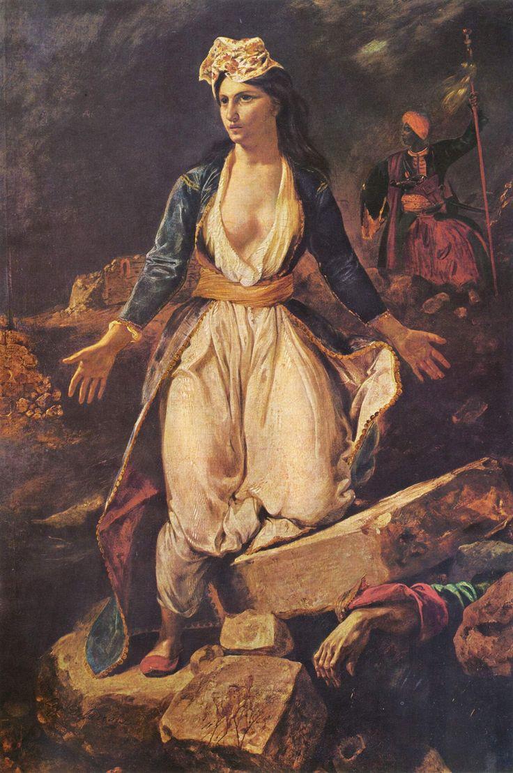 Eugene Delacroix: Grecia sobre las ruinas de Missolonghi