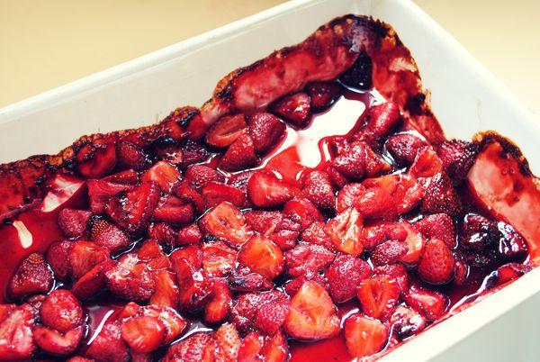 Balsamic Roasted Strawberries | cook | Pinterest