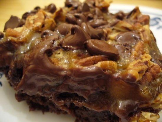 Turtle Brownies   Brownies Galore   Pinterest