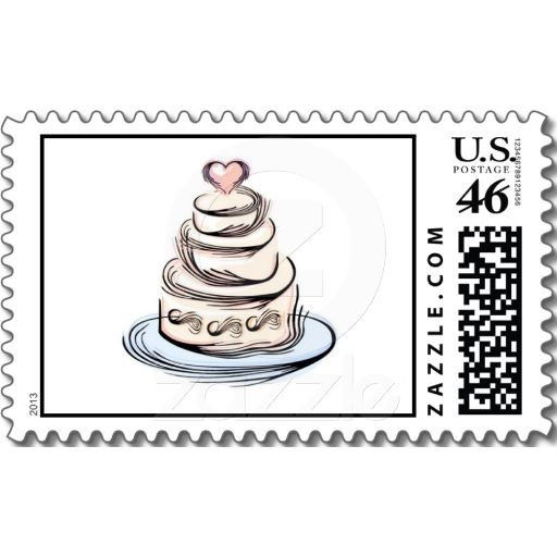 WEDDING CAKE POSTAGE STAMPS Wedding Weddings Weddingpostage