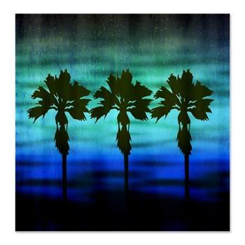Blue palm trees shower curtain shower curtains pinterest