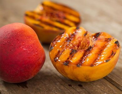Grilled Peaches and Tomatoes Border Guacamole Cucumber Citrus Salsa ...
