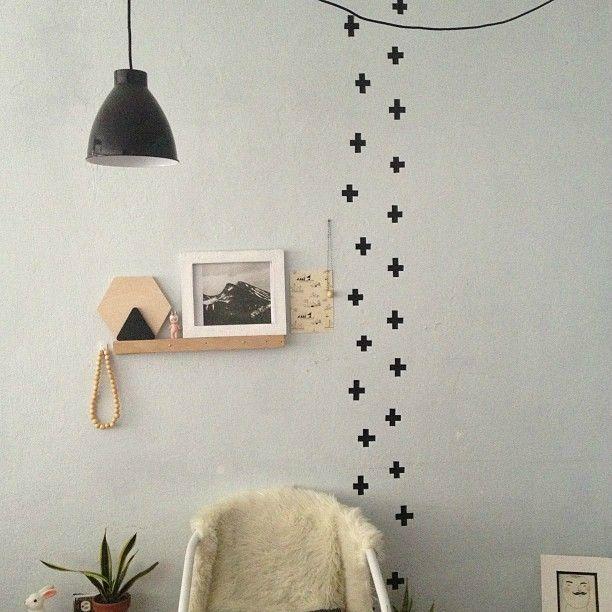 murs avec du masking tape idée déco