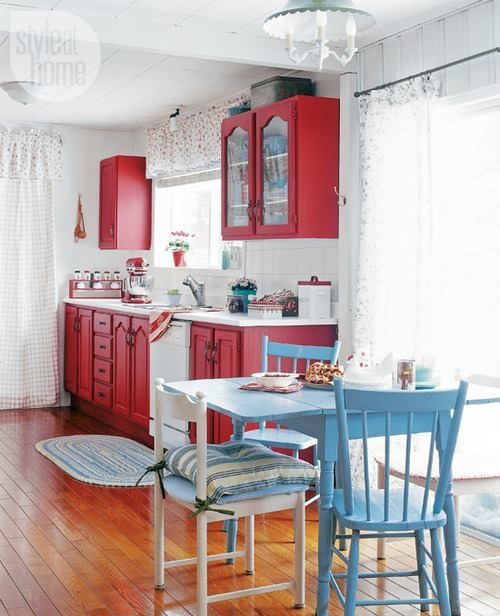 Red, White, and Blue  Kitchen ideas  Pinterest