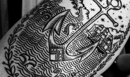 gorgeous anchor tattoo