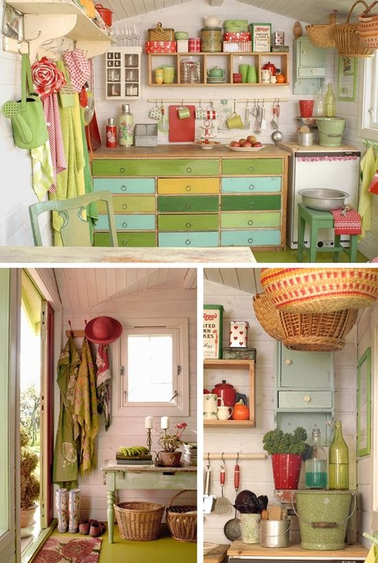 A very nice garden shed garden creations pinterest for Garden sheds interior designs
