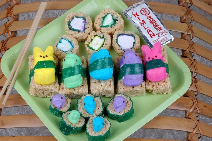 How To Make Peepshi = Peeps Sushi Recipe — Dishmaps
