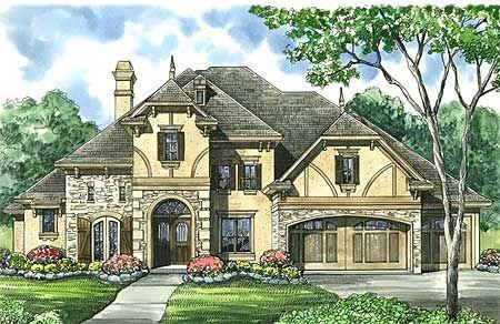 Tudor Inspired Estate Home Plan