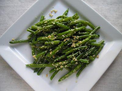 Sesame Garlic Green Beans | recipes | Pinterest