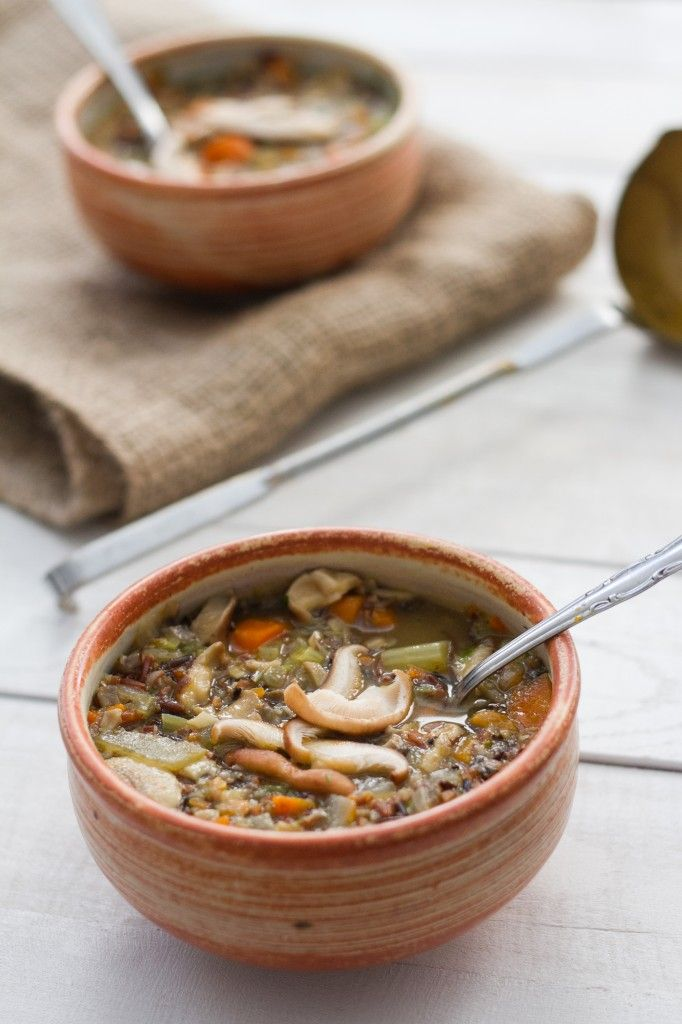 Mushroom and Wild Rice Soup | Cooking | Pinterest