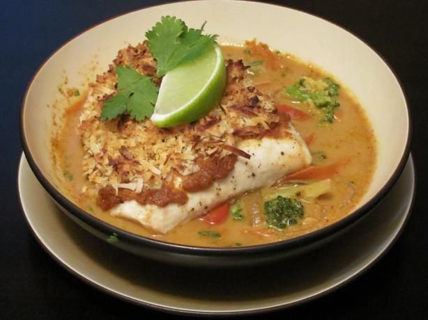 Broiled Tilapia With Thai Coconut- Curry Sauce | Recipe