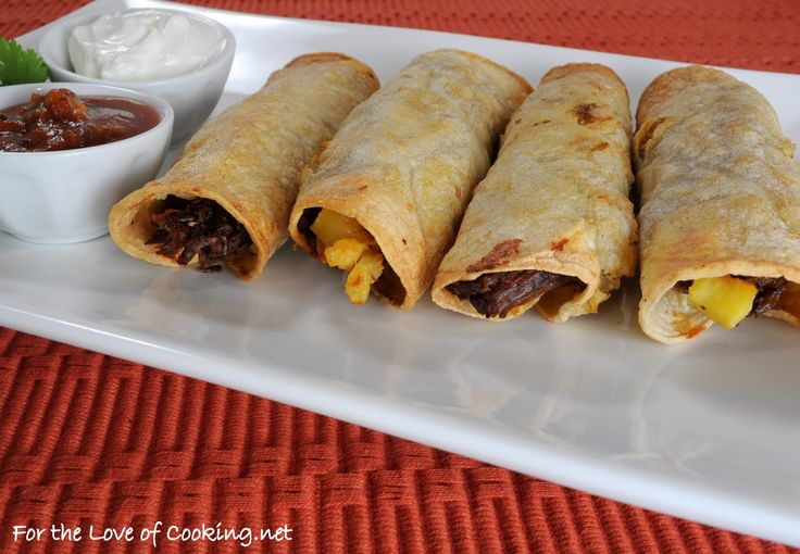 beef/sweet potato taquitos