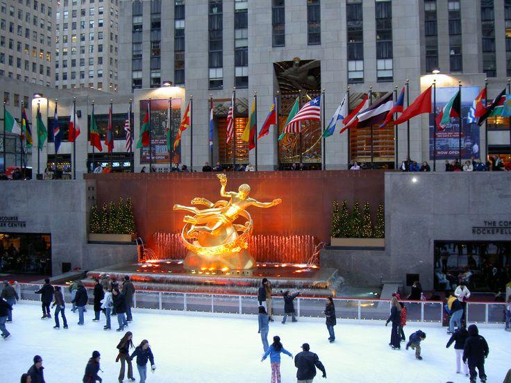 Rockefeller center ice skating new york before i kick the bucket