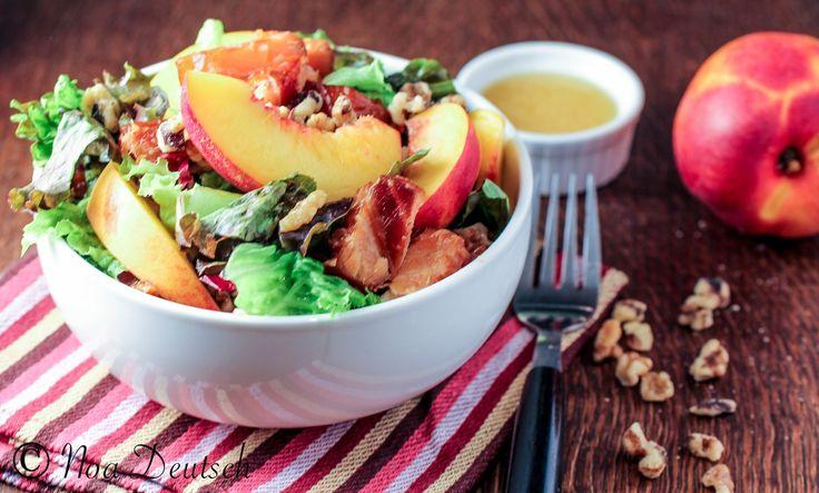Nectarine & salmon salad | Salads | Pinterest