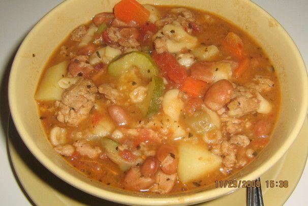 Pasta E Fagioli (Italian soup) with Italian Sausage   Recipe