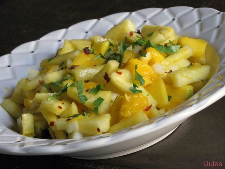 Mango Pineapple Salsa ~~ Serve with Jamaican jerk chicken or fajitas.