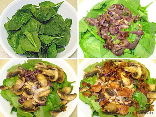 Spinach Salad with Warm Bacon Dressing | Recipes | Pinterest