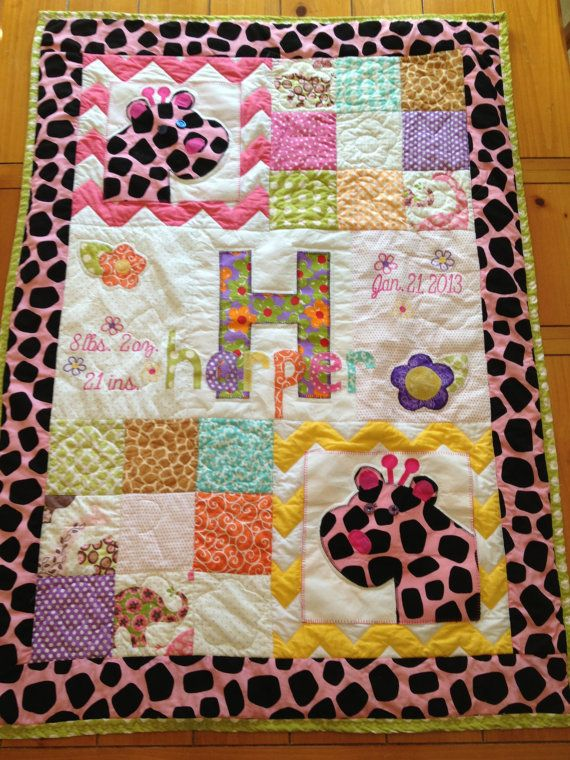 Quilt Ideas For Baby Girl : Baby girl or boy quilt - Fun Animals