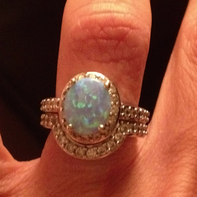 Engagement Ring Opal Rings and Jewelry