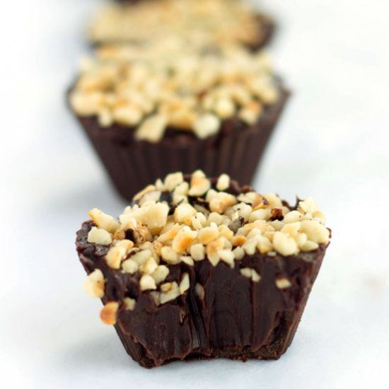 Chocolate Hazelnut Truffle Cups | Sweet Treats | Pinterest