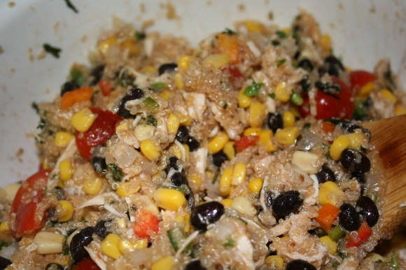 southwest chicken quinoa salad | healthy recipes | Pinterest