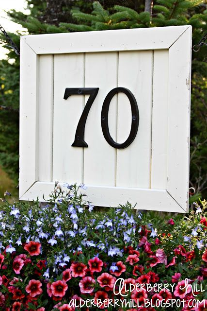 House number sign garden yard projects pinterest - House number signs for yard ...