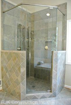 Corner walk-in shower | Home Ideas | Pinterest