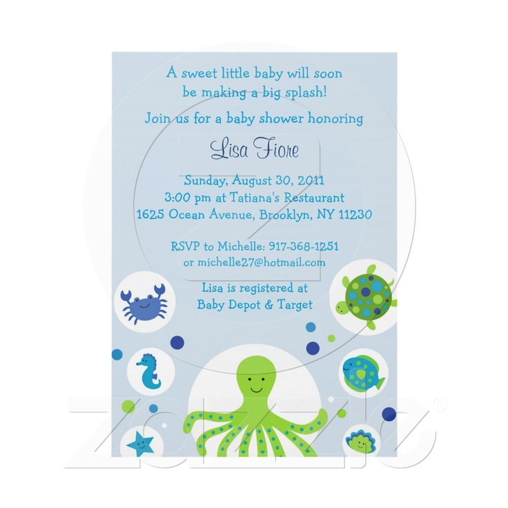 under the sea nautical baby shower invitations from