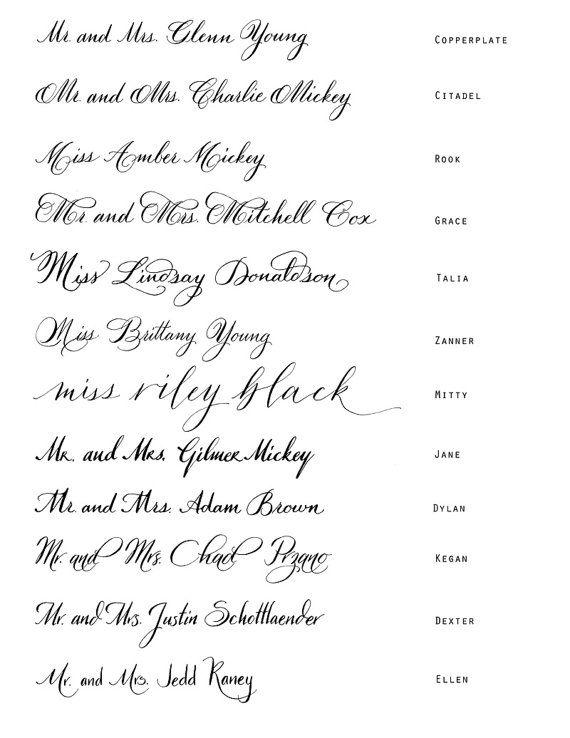Calligraphy Styles For Address Stamp Wedding Stationery