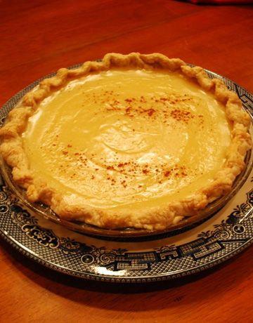 Hoosier Sugar Cream Pie - Indiana's state pie mysugarpie.com