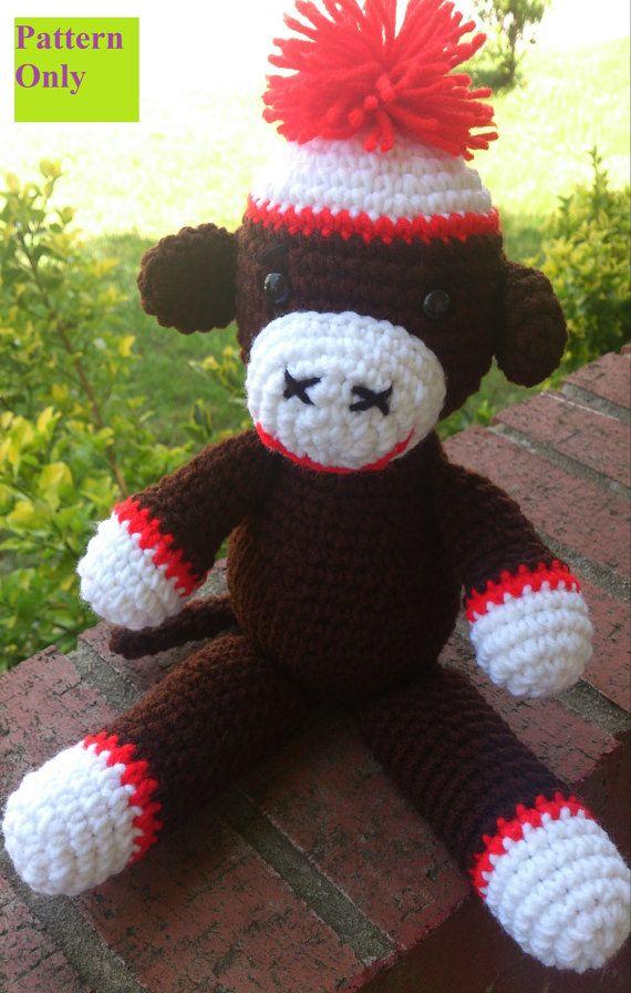 Free Pattern Amigurumi My Little Pony : Instant download Sock Monkey Crochet toy/ amigurumi ...