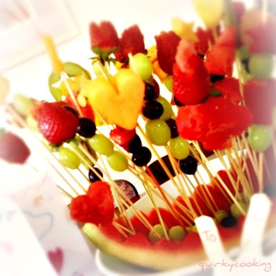 Our Valentine's Day 'Fruit Bouquet'!