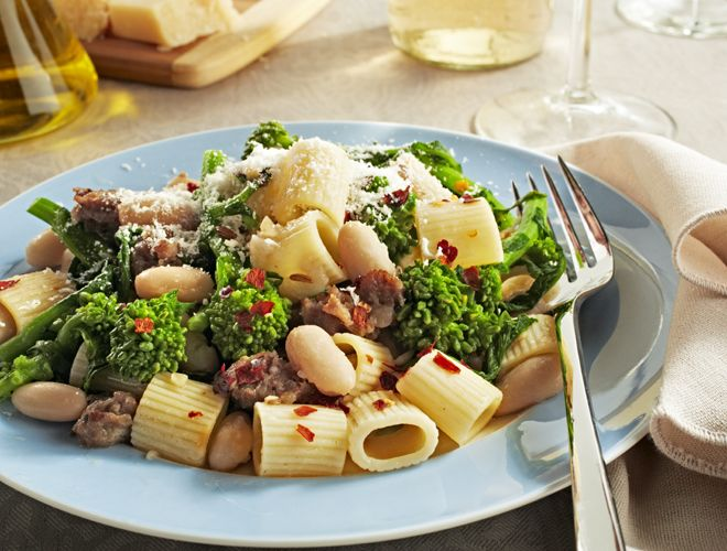 pasta with broccoli rabe sausage amp white beans recipe above amp ...