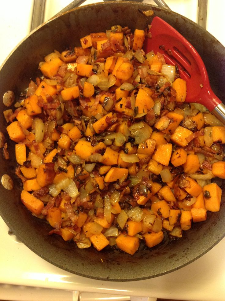 Sweet Potato & Bacon Hash. | Easter Brunch | Pinterest