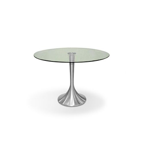Tulip dining table round glass 110cm dining tables for 110cm round glass dining table