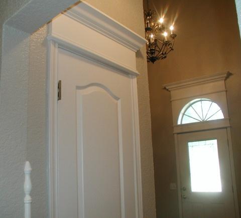 Cornice of crown molding over door diy house projects for Over door decorative molding