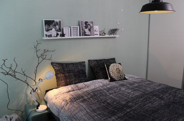 Slaapkamer kleur flexa early dew  Bedroom - Slaapkamer  Pinterest