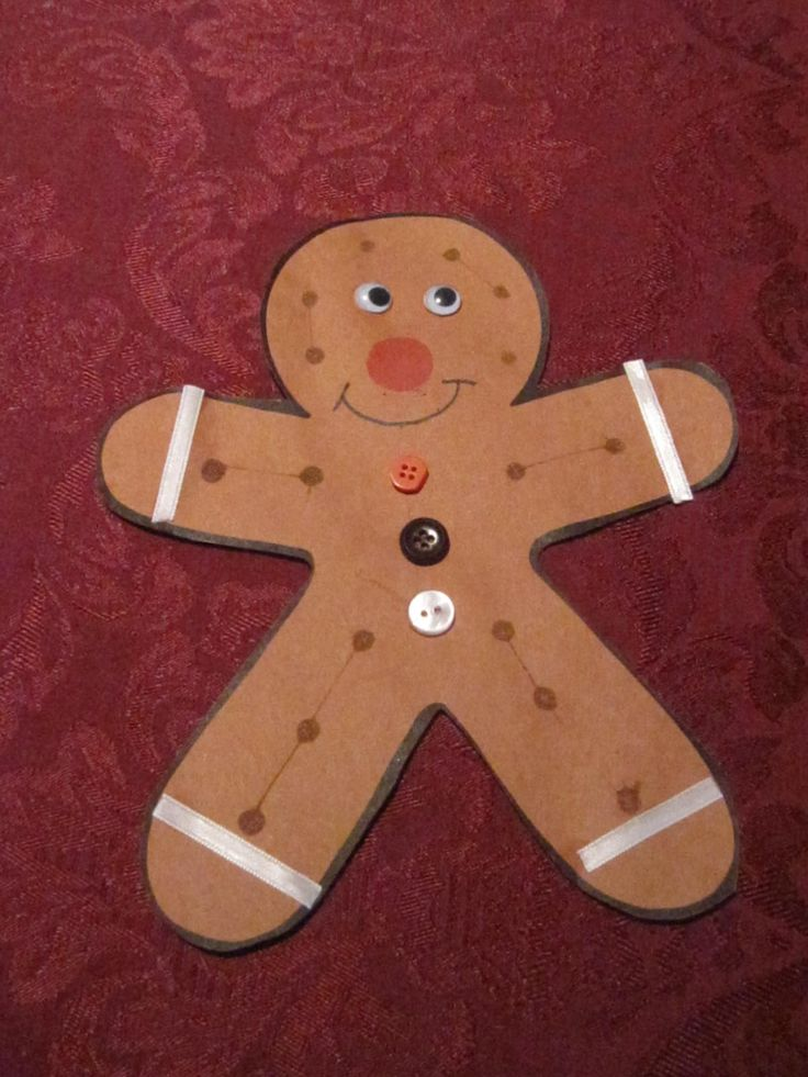 Gingerbread man with a ginger scent crafts for 2 year for Crafts for 6 year olds