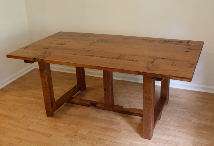 Dining table solid wood dining table rustic for Table 52 parking